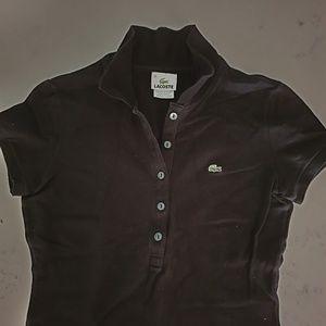 Lacoste Tops - Lacoste Black shirts short slv collar shirts golf